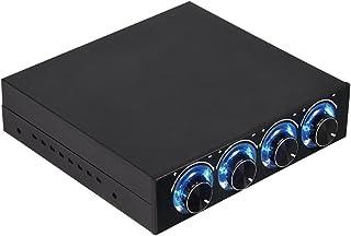 Vbestlife - Controlador de Temperatura de Ventilador de Ordenador de 4 Canales para Reducir el Calor para PC de sobremesa con LED Azul