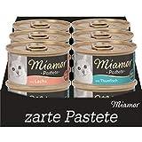 Miamor Pastete MB Fisch 5x3x4x85g - beinhaltet folgende Sorten: 3x Thunfisch, 6x Lachs, 3x Forelle
