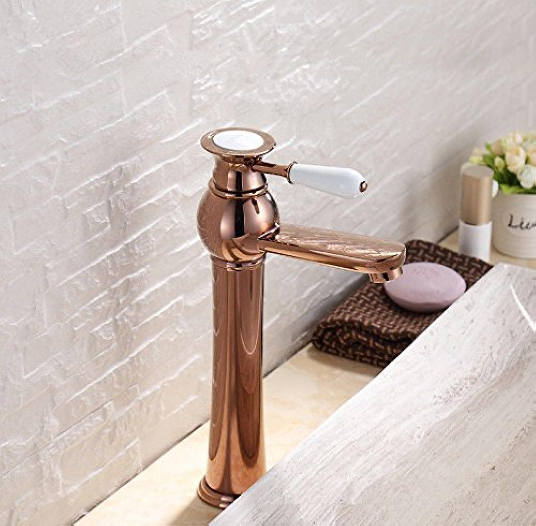 MGADERO Wasserhahn Bad Armatur Mischbatterie Messing antik Warmes und kaltes Wasser Badarmatur Waschbecken Waschtischbatterie für Badezimmer