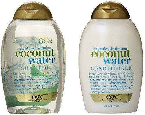 OGX Weightless Hydration Coconut Water Shampoo & Conditioner, 13 Ounce (Combo Set) by OGX