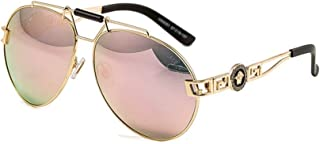 LUKEEXIN Women's Fashion Retro UV Protection Sunglasses for Beach Holiday Outdoor (Color : Gold/Orange)