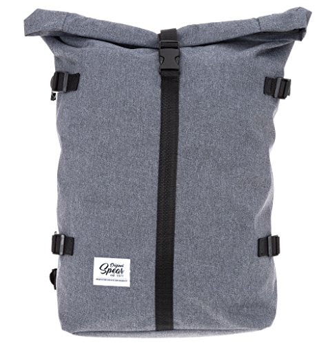 SPEAR Rucksack Courier 299 Freizeitrucksack Kurierrucksack Rollup Backpack (299 Grey (Two Tone))