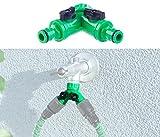 Royal Gardineer Wasserhahnadapter: 2-Wege-Wasserhahn-Adapter mit 2 Ventilen für Gartenschläuche (Gartenschlauch Verteiler)