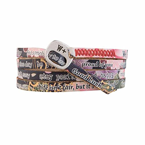 Armband aus Japan Schwarz Printes Collection Leder WP214 - We Positive