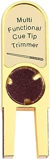 MOOCY U-Shaped Pool Cue Tip Scuffer Burnisher/Tapper/Dime Shaper/Nickel Shaper/Trimmer -Gold