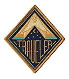 Traveller Patch–10,2x 8,9cm pouces–Thème Logo Série brodée fer à...