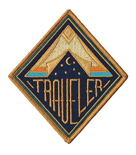 """Aufnäher/Aufbügler """"Traveler"""" (ca. 9cm), voll bestickt, von Karma Patch"""