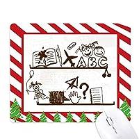 無邪気な子供たちのかわいいイラストの本棚 ゴムクリスマスキャンディマウスパッド