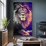 Kingkoil Leones Salvaje Animal León Rey Pintura Pintura Carteles Y Estampados Cuadros En La Pared Ar...
