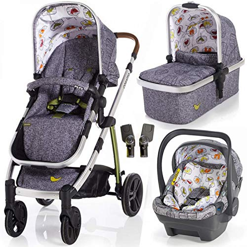 Cosatto Wow Pram & Pushchair with Dock car seat and Raincover in Dawn Chorus