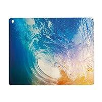 iPad Pro 11 ケース 2020 磁気吸着 充電に対応 波、日の出の水のしぶきで衝突する巨大な活気のある海の波夏のサーフィンのテーマ装飾、ブルーオレンジホワイト オートスリープ ウェイク スリム 軽量 シルク手触り 高級感 リバウンドマグネティックスマートケース