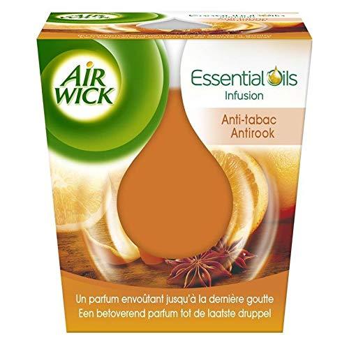 AIR WICK - Bougie Essential Oils Anti Tabac - Lot De 3 - Livraison Gratuite