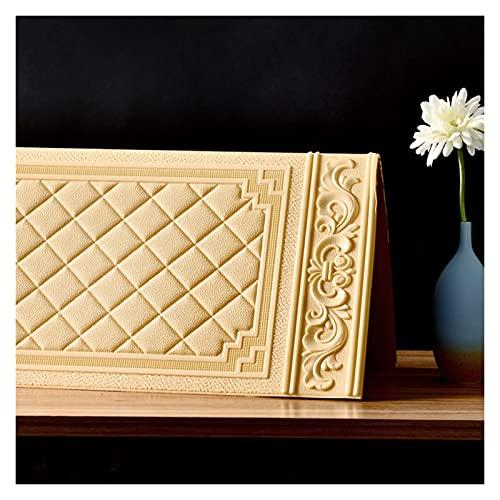 KJHJ Fondo de Pantalla Impermeable TELEVISOR Fondo 3D Etiquetas de Pared Sala de Estar Papel Tapiz Dormitorio Decoración Ladrillo Fondo de Pantalla 727 (Color : Yellow, Size : 70cmX90cmX5 Pieces)
