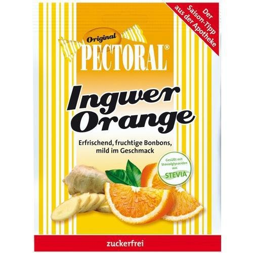 PECTORAL Ingwer Orange Bonbons zuckerfrei 60 g