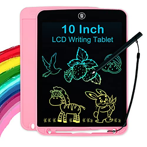 Girls Toys Gifts LCD Writing Tablet for Kids 10 Inch, Colorful Doodle...