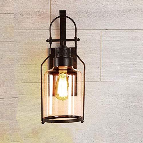 ALIlique Wall, indoor brons, olie gewreven brons, verlichting retro, industriële lamp, lampekap glas lantaarn, boerderij verlichting, metaal lamp for in de woonkamer slaapkamer (pakket 1)