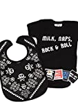 Milk, Naps, Rock & Roll Baby Set de regalo/divertida bolsa de regalo para niños...