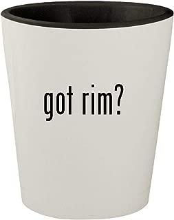 got rim? - White Outer & Black Inner Ceramic 1.5oz Shot Glass
