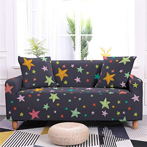 Stretch Covers For Sofa Couch Starry Printed Elastic Spandex 1/2/3/4 Seater Sofa Cover Armchair Slipcovers Furniture Protector for Children Pet,4,seater 235,300cm