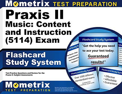 Compare Textbook Prices for Praxis II Music: Content and Instruction 5114 Exam Flashcard Study System: Praxis II Test Practice Questions & Review for the Praxis II: Subject Assessments Cards Flc Crds Edition ISBN 9781516700226 by Praxis II Exam Secrets Test Prep Team