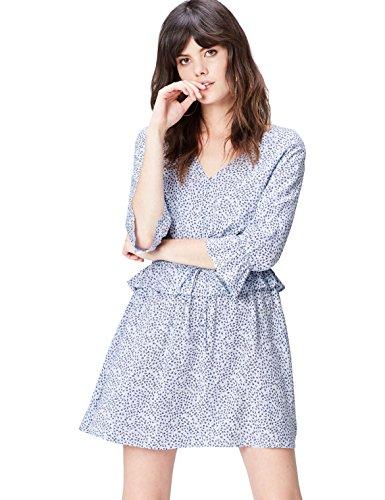 find. 13651 vestiti donna casual, Blu (Blue), 44 (Taglia Produttore: Medium)