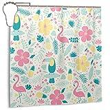 JOJOSHOP Cortina de ducha impermeable de tela para decoración de baño de 66 x 72 pulgadas con ganchos