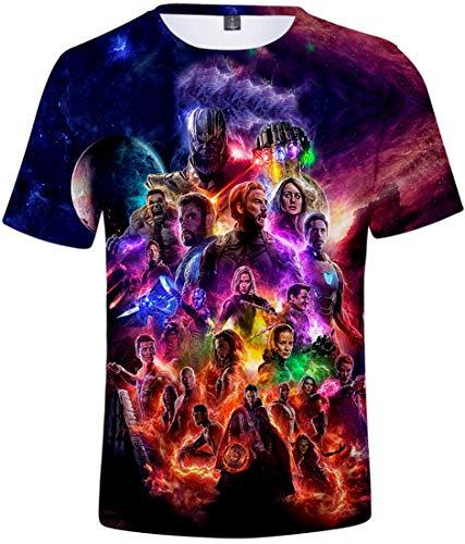 PANOZON Camiseta Unisex Impresión de Vengadores Endgame para Fanes de Película Avengers (L, 3Colección)