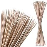 satis Stockbrot Spieße 100 Stück aus Bambus Holz I Lagerfeuer Stöcke und Marshmallow Stäbe für Kinder I Extra lang 90 cm Holzstab perfekt für Feuerschale