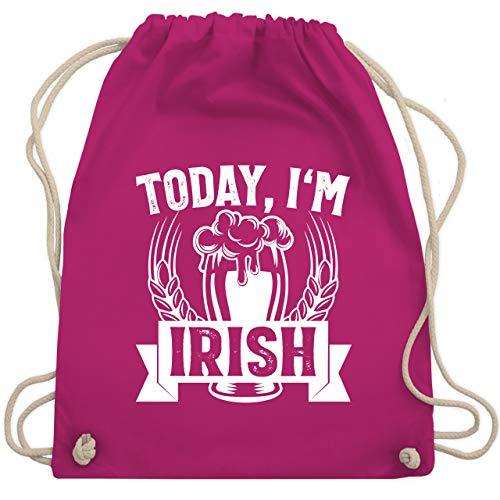 St. Patricks Day - Today, I'm Irish - Unisize - Fuchsia - Bier - WM110 - Turnbeutel und Stoffbeutel aus Baumwolle