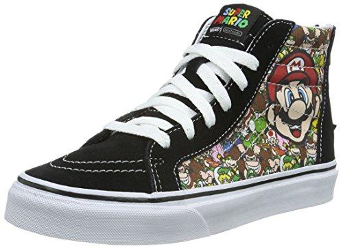 Vans Unisex SK8-Hi Zip High-Top, Nintendo Mario Luigi True White, 38 EU