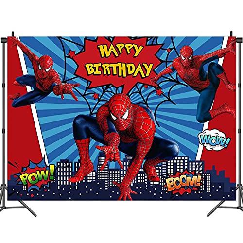 Superhéros Fête Décoration Fond - Miotlsy Spiderman...