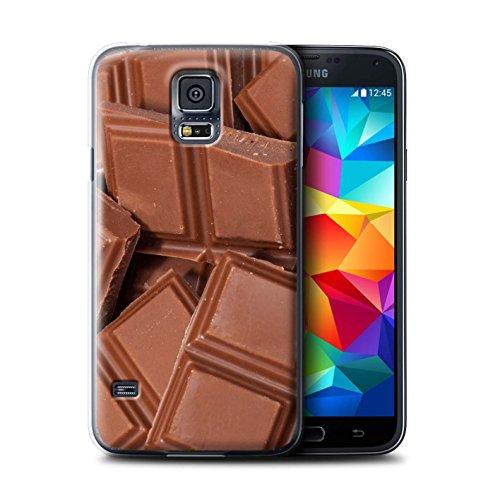 Custodia/Cover Rigide/Prottetiva STUFF4 stampata con il disegno Cibo per Samsung Galaxy S5 Neo/G903 - Cioccolato