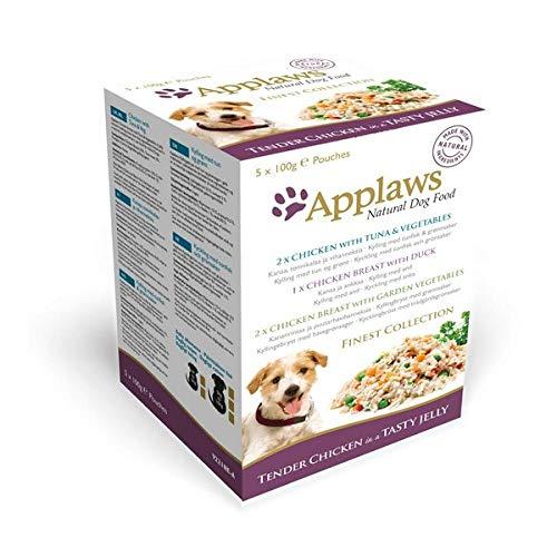 Applaws Multipack Finest Collection Hunde Nassfutter in Gelee (5 Beutel) (5 x 100 g) (kann variieren)