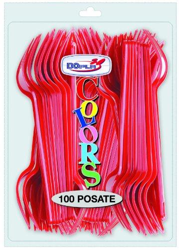 Forchette Rosse 100 Pz