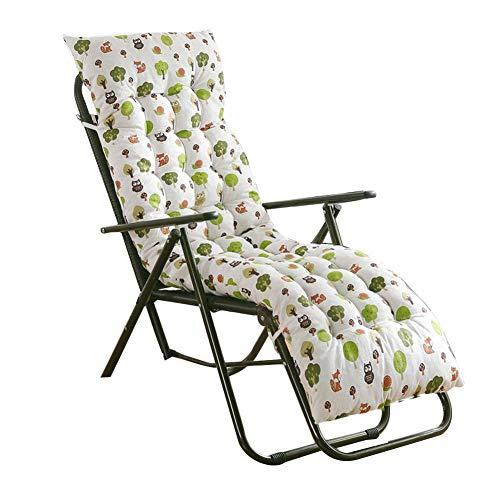Winnerruby Garden Lounge Cojín para silla, 48 x 155 x 8 cm Chaiselongue, interior / exterior balancín Sofá cojín suave acolchado para muebles para Holiday Relaxer Patio Garden Outdoor (sólo cojines)
