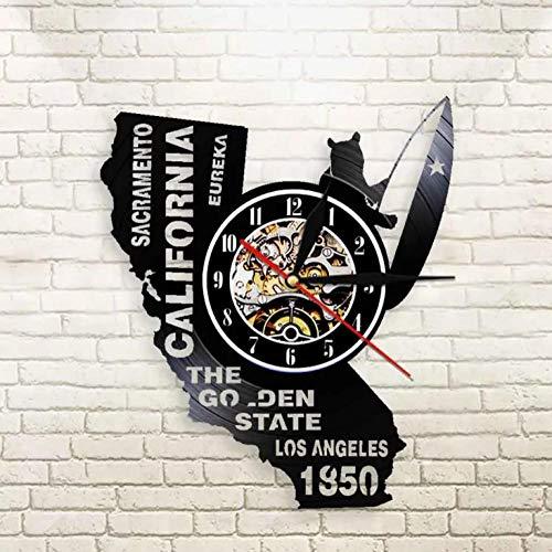 Liushenmeng Vinilo Reloj de Pared los Angeles Discos de Vinilo Reloj de Pared Reloj de Vinilo Vintage Relojes de Pared Decoración para el hogar Hechas a Mano Art diámetro 30cm