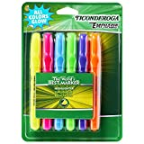 TICONDEROGA Emphasis Fluorescent Highlighters, Desk Style, Chisel Tip, Assorted Colors, 6-Pack (47076)