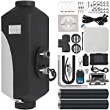 Happybuy 5KW Diesel Air Heater 10L Tank Diesel Heater 12V Diesel Parking Heater Muffler with LCD Thermostat and Remote Control for RV Bus Trailer Motor-home and Boats