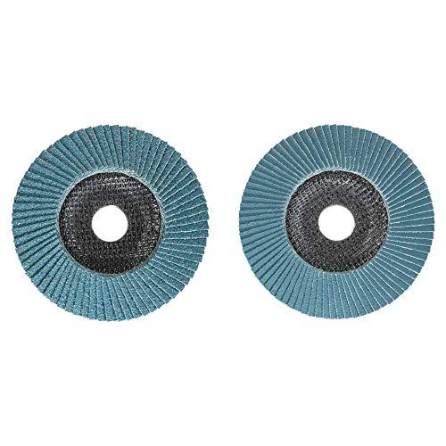 kwb by Einhell 2-tlg. Fächerscheiben Set Winkelschleifer-Zubehör (Ø 115 x 22.23 mm, Cut-Fix, Schleifmop, Lamellenscheiben, für Metall und Stahl)
