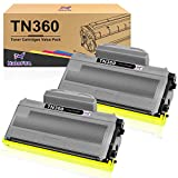 Halofox Compatible Toner Cartridge Replacement for Brother TN360 TN360 TN330 TN-330 High Yield Toner for HL-2170W HL-2140 MFC-7840W MFC-7340 MFC-7345N DCP-7040 DCP-7030 DCP-7045N (2 Pack, Black)