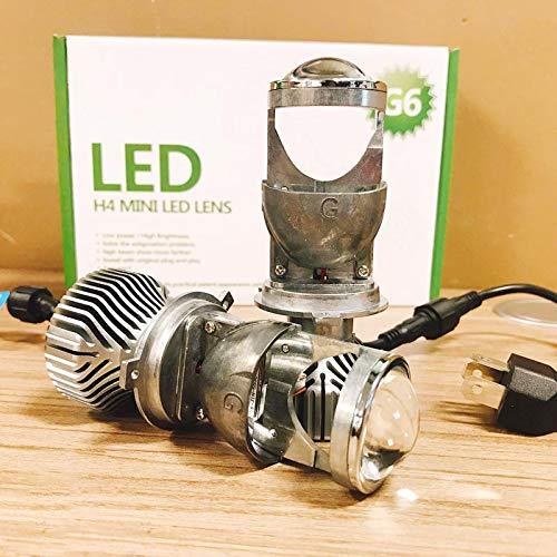 H4 9003 HB2 LED Headlight Bulb with Mini Projector Lens,Hi/Lo Beam, 70W 5500k led headlights