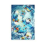 Póster de Pokemon Anime en alta definición sobre lienzo, póster artístico de pared, impresión de imagen moderna para habitación familiar, póster de 20 x 30 cm