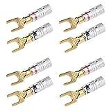 Docooler Y Spade Speaker Plugs Wire Connector Audio Loudspeaker Connector Amplifier Adapter Left