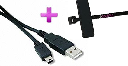 Fuji Finepix A500 Zoom Compatible USB Cable Mini-Mini USB Cable 10 ft Long Plus + eCool4U Cable Tie