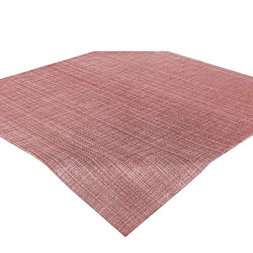 Delindo Lifestyle Tischdecke, Mitteldecke Samba, Altrosa - rosa, in 85x85 cm, Fleckschutz, abwaschbar, für Indoor und Outdoor