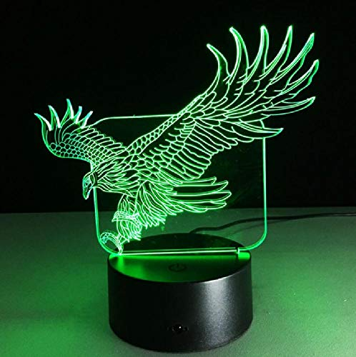 Table Lamp Led Night Light 3D Acrylic 3D Novelty Light Flying Eagle LED Lamp 7 Colors Changing 3D Table Lamp Luminaria LED Night Lights Baby Room Night Light