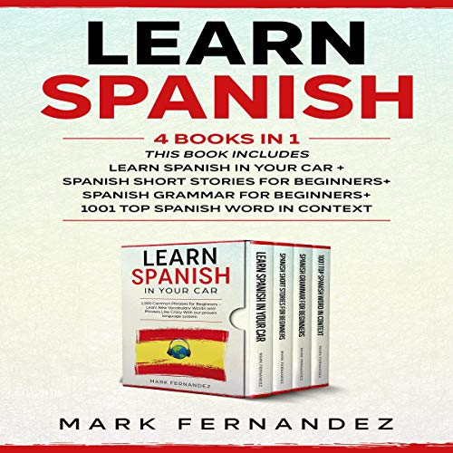 Learn Spanish: 4 Books in 1  By  cover art