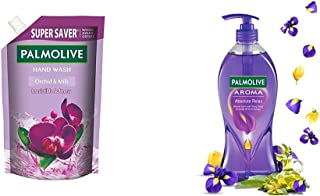 Palmolive Aroma Absolute Relax Body Wash - 750ml Pump and Palmolive Naturals Orchid & Milk Liquid Hand Wash - 750 ml (Refi...