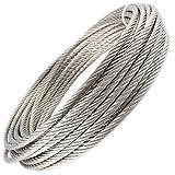 20 metros de cable de alambre 7 x 19 suave – 1,5 mm hasta 16 mm de acero inoxidable A4