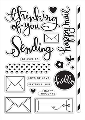 Ik denk aan jou/Happy Mail Transparant Clear Silicone Stamp/Seal voor decoratieve clear stamp DIY scrapbooking/fotoalbum